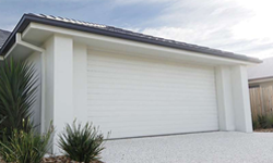 Contemporary Corotex Sectional Steel Garage Door White