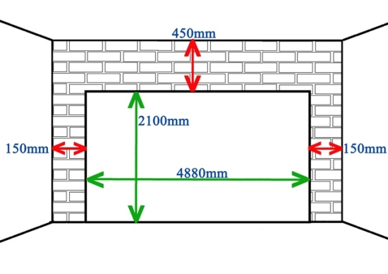 Double door measurements Standard double garage door size