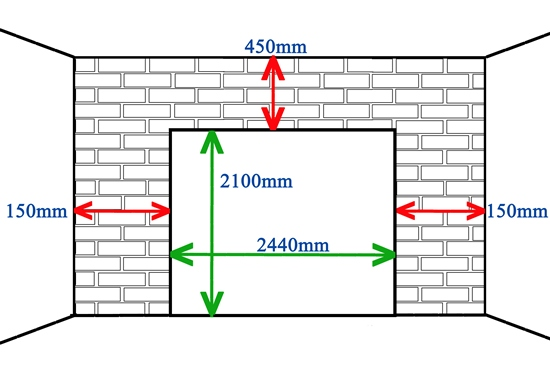Singledouble door measurements for Standard double car garage door size